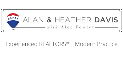 Alan and Heather Davis with Alee Fowler logo - Experienced REALTORS®, Modern Practice